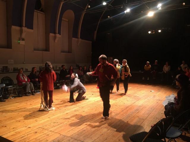 Dancers prepare for a workshop